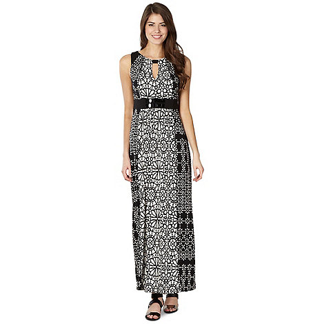The Collection Petite - Petite black mixed print maxi dress