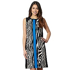 The Collection - Black zebra colour block panel dress