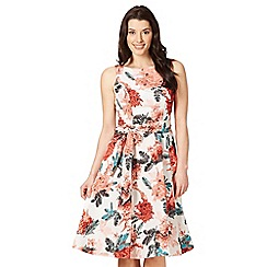 The Collection - Coral fern print dress