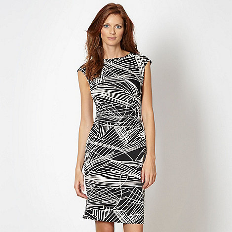 The Collection Petite - Petite black jersey linear dress