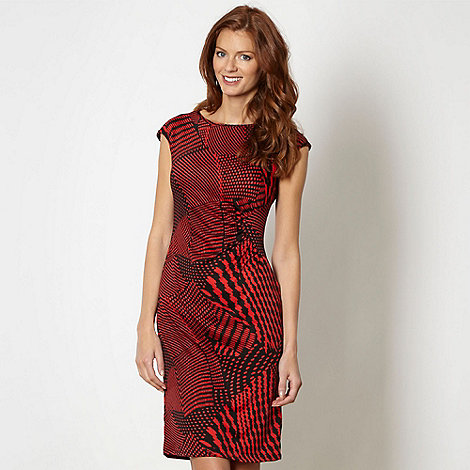 The Collection Petite - Petite red spotted ruched jersey dress