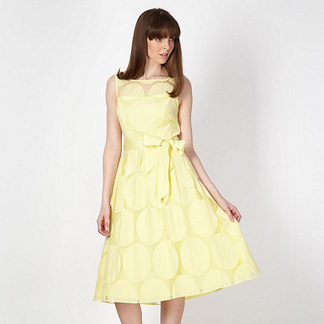 The Collection - Light yellow spotted prom dress