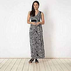 The Collection - Black spotted mono print jersey dress