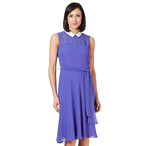 The Collection - Purple collared chiffon dress