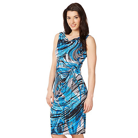 The Collection - Blue swirl print jersey dress