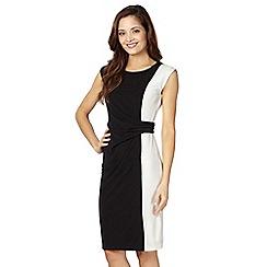 The Collection Petite - Petite black monochrome side panel dress