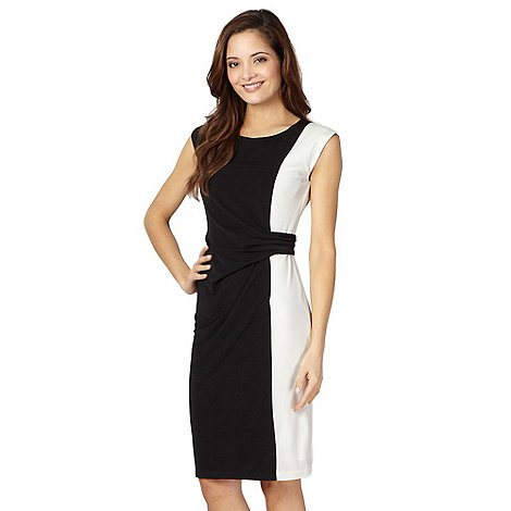 The Collection - Black monochrome side panel dress