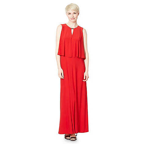 The Collection - Red double layered jersey maxi dress