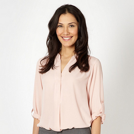 The Collection - Pale pink chiffon three quarter sleeve blouse