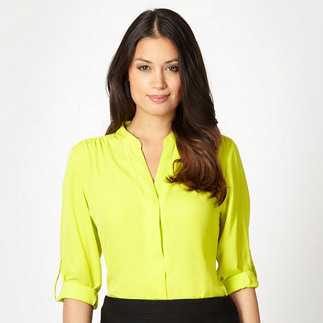 The Collection - Lime chiffon button blouse