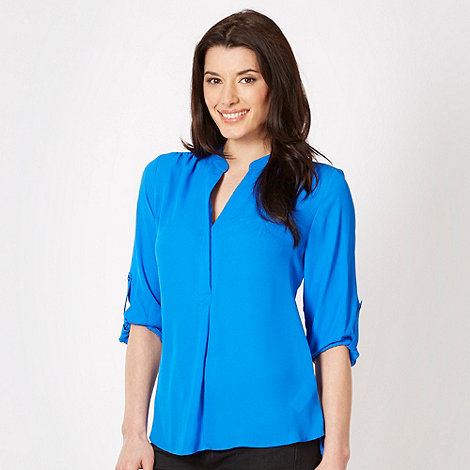 The Collection - Bright blue crepe shirt