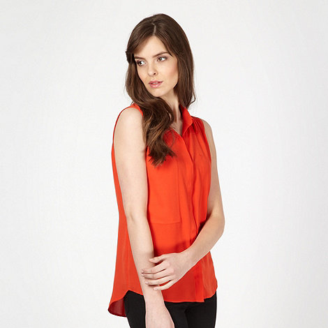 The Collection - Red sleeveless chiffon shirt