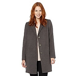 The Collection Petite - Petite grey single breasted three quarter length coat