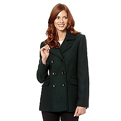 The Collection Petite - Petite dark green textured reefer jacket