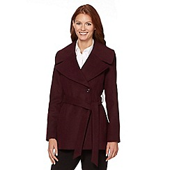 The Collection - Wine shawl collar jacket