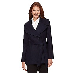The Collection - Navy shawl collar jacket