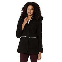 The Collection - Black faux fur trim coat