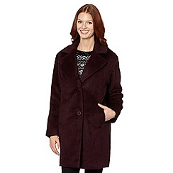 The Collection - Wine wool lapel collar coat