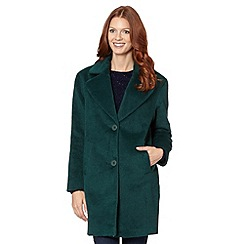 The Collection - Green wool lapel collar coat