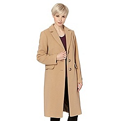 The Collection - Camel cashmere blend single breasted coat