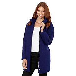 The Collection Petite - Petite blue cocoon coat