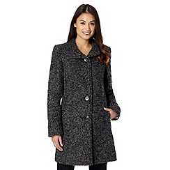 The Collection - Grey textured swing coat