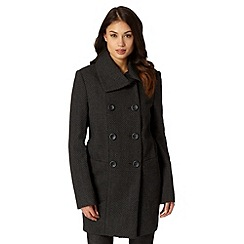 The Collection Petite - Petite grey wool blend textured coat
