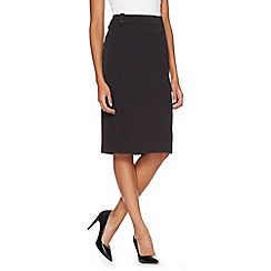 The Collection Petite - Petite black smart work skirt