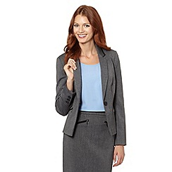 The Collection - Grey textured trim suit jacket