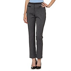The Collection - Grey textured trim suit trousers