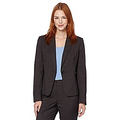 The Collection - Grey pinstriped suit jacket