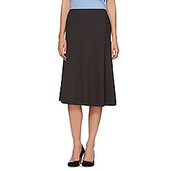The Collection - Grey pinstripe skirt