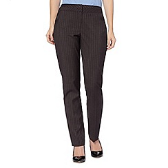 The Collection - Grey pinstriped suit trousers