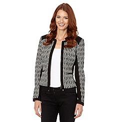 The Collection - Black chevron tile jacket