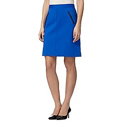 The Collection - Royal blue smart A-line skirt