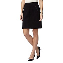 The Collection Petite - Petite black A-line jersey skirt