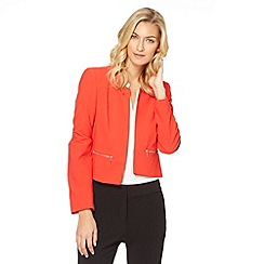 The Collection Petite - Petite red cropped crepe jacket