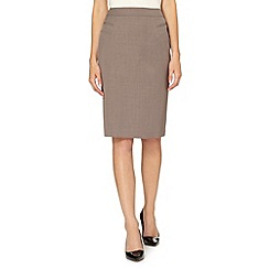 The Collection Petite - Petite taupe suit skirt