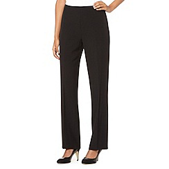 The Collection - Black side zip straight leg trousers