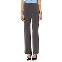 The Collection Petite - Petite grey smart straight leg trousers