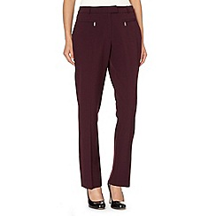The Collection - Plum slim leg trousers