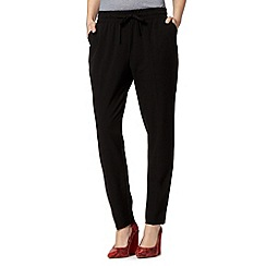The Collection - Black drawstring waist trousers
