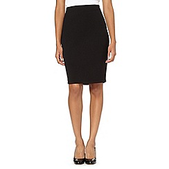 The Collection - Black textured ponte skirt
