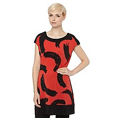 The Collection - Red brushstroke tunic top