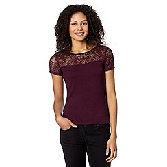 The Collection - Wine rose lace top