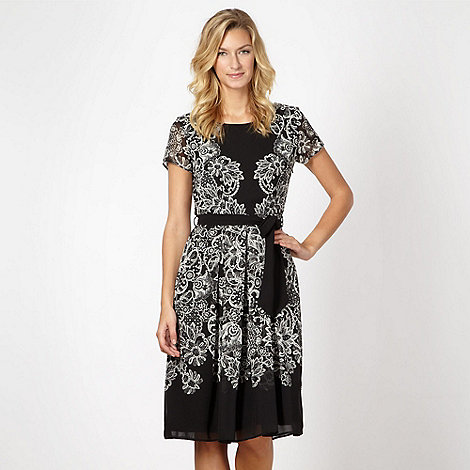 The Collection - Black lace print dress