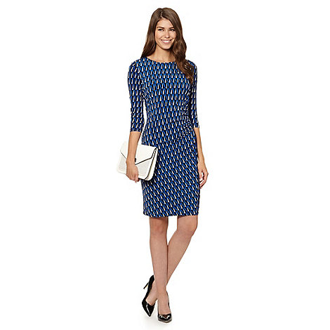 The Collection - Royal blue geo jersey dress