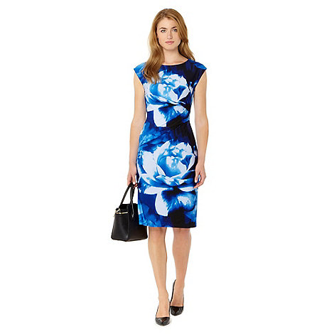 The Collection - Blue oversized floral print jersey dress