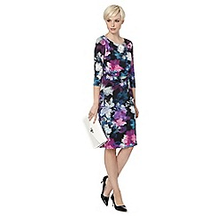 The Collection - Black graphic floral dress