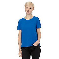 The Collection - Blue crepe shell top
